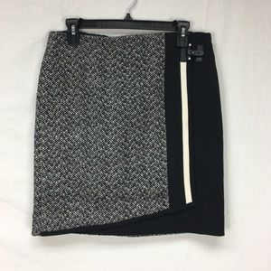 White House Black Market Black Tweed Boot Skirt